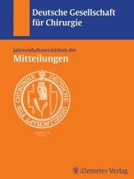 Jahresinhaltsverzeichnis 2005 - Deutsche Gesellschaft für Chirurgie