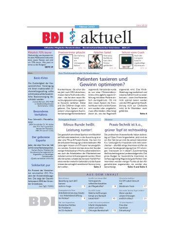 Patienten taxieren und Gewinn optimieren? - beim BDI