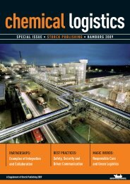 chemical logistics SPECIAL ISSUE • STORCK PUBLISHING ...