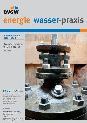 energie wasser-praxis - BWF ARMATUREN GmbH & Co. KG - Gas ...