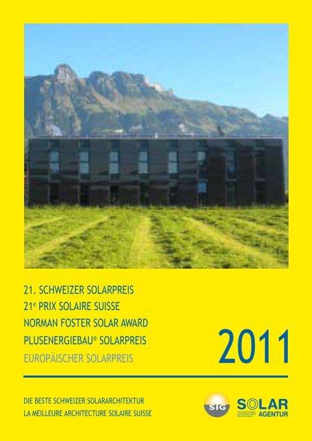 Schweizer Solarpreispublikation 2011 (PDF - bitte anklicken)