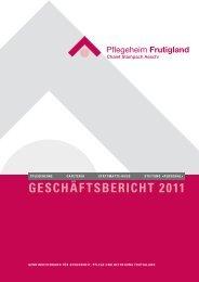 geschäftsbericht 2011 - Pflegeheim Frutigland