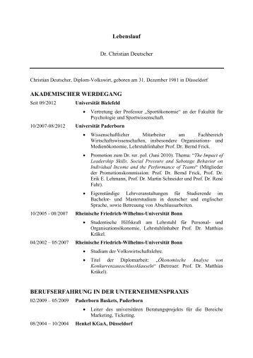 ausfhrlicher lebenslauf pdf fakultt fr - Ausformulierter Lebenslauf Muster