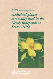 WHO monographs on medicinal plants commonly used in - Multiple ...