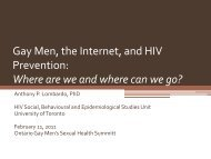 Gay Men, the Internet, and HIV Prevention: Where are we ... - GMSH