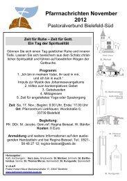 Pfarrnachrichten November 2012 - Pastoralverbund Bielefeld-Süd