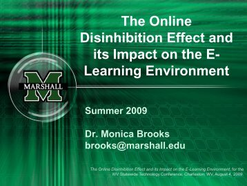 The Online Disinhibition Effect and its Impact on ... - users at Marshall