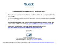 Choosing classes for Westfield State University (WSU): - Asnuntuck ...