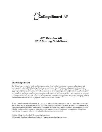 2003 AP Calculus AB Form B Scoring Guidelines - Comcast.net