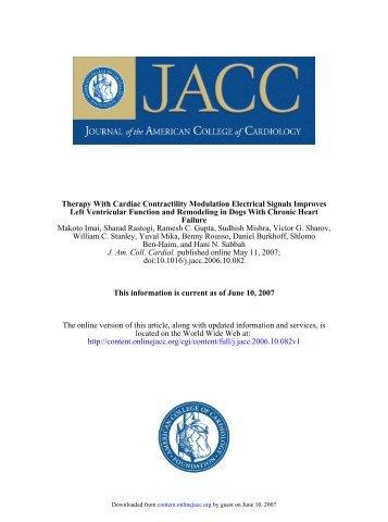 doi:10.1016/j.jacc.2006.10.082 published online May 11, 2007; J ...