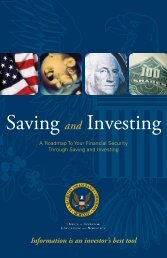 Saving and Investing - Securities and Exchange Commission
