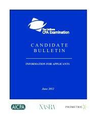 Candidate Bulletin - nasba