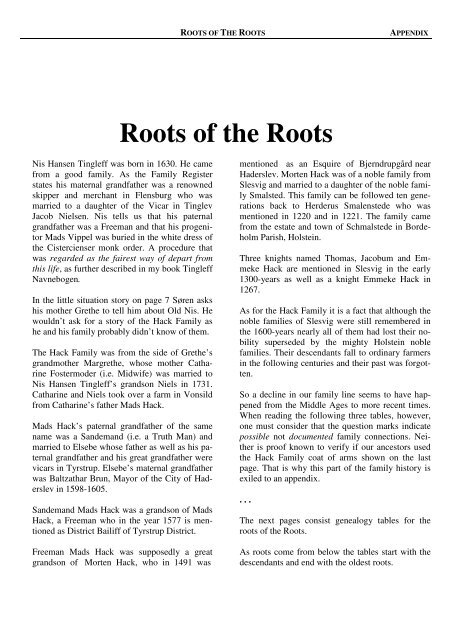 Roots of the Roots - tingleff asia