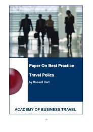 Best Practice Travel Policy