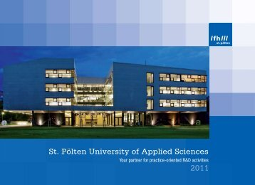 2011 St. Pölten University of Applied Sciences - Fachhochschule St ...