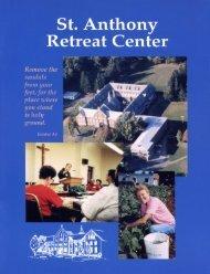 Pamphlet - St. Anthony Spirituality Center