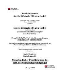 Société Générale Société Générale Effekten GmbH ... - Börse Stuttgart