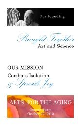 Program - Arts for the Aging