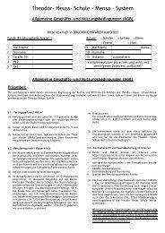 Anmeldeformular - THS-Mensa-System - SAMS-ON