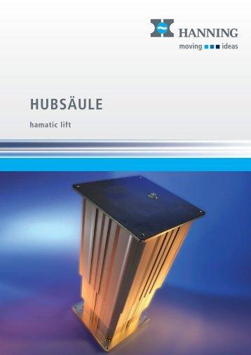Hubsäule hamatic lift - Hanning Elektro-Werke GmbH & Co. KG
