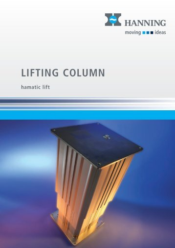 hamatic lift - Hanning Elektro-Werke GmbH & Co. KG