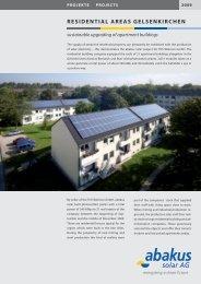 Residential aReas GelsenkiRchen - Abakus solar AG