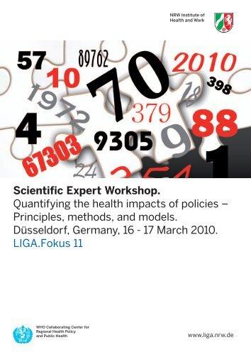 Scientific Expert Workshop. Quantifying the health ... - LZG.NRW