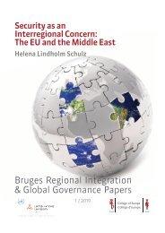 Bruges Regional Integration & Global Governance Papers