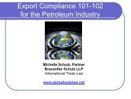 Export Compliance for the Oil and Gas Industry - Welcome To The ...