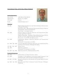 Curriculum Vitae of Dr.-Ing. Klaus Schmidt