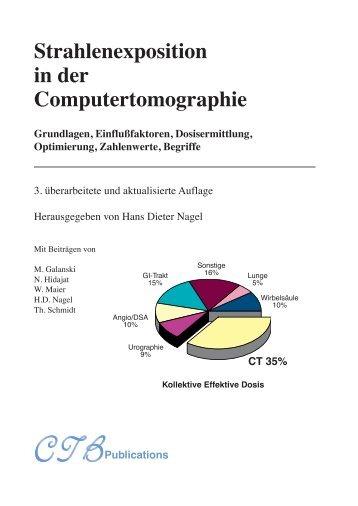 Strahlenexposition in der Computertomographie - SASCRAD