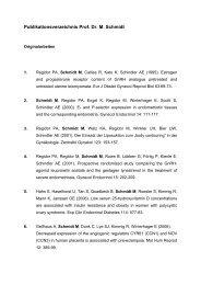 Publikationsverzeichnis Prof. Dr. M. Schmidt - Klinikum Duisburg