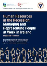 Human Resources in the Recession - Labour Relations Commission