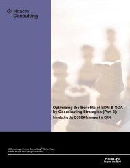 Optimizing the Benefits of EDM & SOA by - Hitachi Consulting