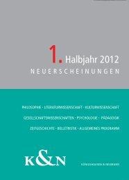 vorschau_1_2012 - Verlag Königshausen & Neumann