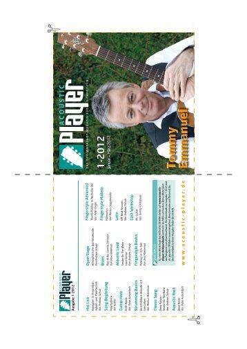 DVD-Cover Ausgabe 1-2012 - ACOUSTIC PLAYER