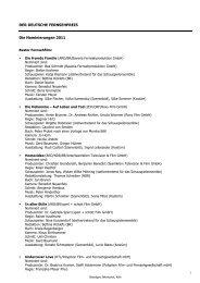 Liste der Nominierungen 2011 mit Details - Deutscher Fernsehpreis