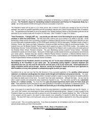 POSTGRADUATE AWARDS INITIATIVE: - Muhlenberg College