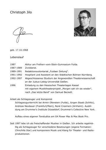kompletter lebenslauf als pdf datei universitt fr musik und ...