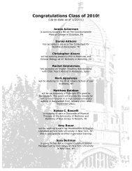 Congratulations Class of 2010! - Muhlenberg College