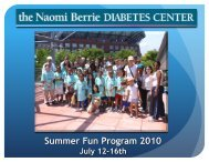 The Naomi Berrie Diabetes Center Summer Fun Camp
