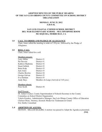 June 25, 2012, Public Hearing - San Luis Obispo County Office of ...