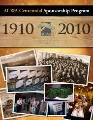 ACWA Centennial Sponsorship Program - Association of California ...