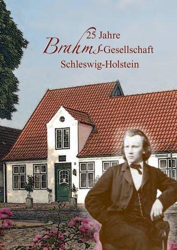 25 Jahre Brahms-Gesellschaft Schleswig-Holstein