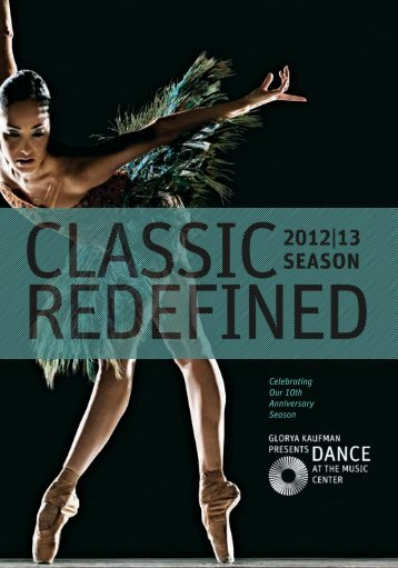 2012/2013 Season Brochure - Music Center