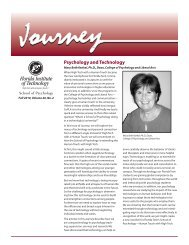 Psychology and Technology - College of Psychology and Liberal ...