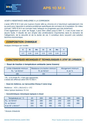 DOMAINES D'APPLICATION - IMS France