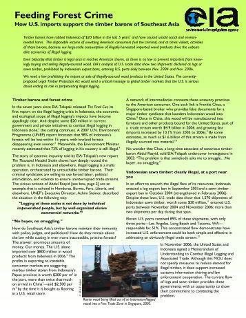 report--THS-USinsert.. - Environmental Investigation Agency