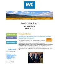 Recap for Month of March 2012 - Economic Vitality Corporation