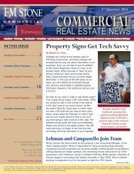 REAL ESTATE NEWS - FM Stone Commercial